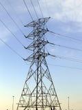 Torre del cable de transmisión fotos de archivo