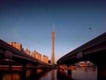 Torre del cantón de Guangzhou imagenes de archivo