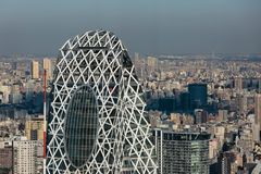 Torre del capullo de Gakuen del modo en Tokio imagen de archivo