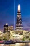 Torre del casco del rascacielos en Londres Foto de archivo