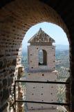 Torre del castello di Alora Immagine Stock