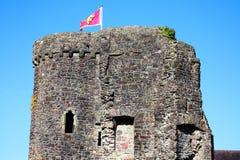 Torre del castello di Carmarthen Fotografia Stock