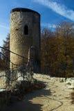 Torre del castello di Cimburk Fotografia Stock
