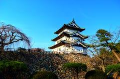 Torre del castello di Hirosaki fotografia stock