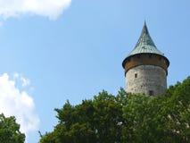 Torre del castello di Kuneticka Hora piccola, Pardubice, repubblica Ceca Fotografia Stock Libera da Diritti