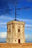Torre del castello di Montjuic, Barcellona, Spagna Immagini Stock Libere da Diritti