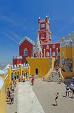 Torre del castello di Pena, Sintra, Portogallo Fotografia Stock Libera da Diritti