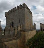 Torre del castello medievale di Rio del del di Almodovar in spagna Fotografia Stock Libera da Diritti