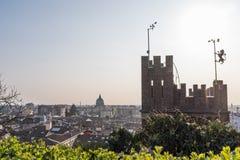 Torre del castello Udine e della città Udine Fotografia Stock Libera da Diritti