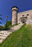 Torre del castillo con las escaleras Imagen de archivo libre de regalías