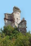 Torre del castillo de Chervonohorod, Ucrania Foto de archivo