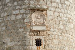 Torre del castillo de Frankopan, Krk, Croacia Foto de archivo libre de regalías