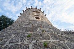 Torre del castillo de Frankopan, Krk, Croacia Imagen de archivo