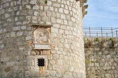 Torre del castillo de Frankopan, Krk, Croacia Fotografía de archivo libre de regalías