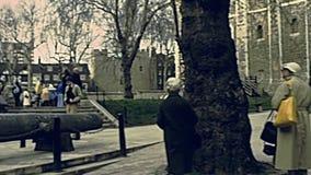 Torre del castillo de Londres almacen de video