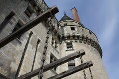 Torre del castillo de los langais de Loire Valley Foto de archivo libre de regalías