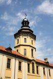 Torre del castillo de Nesvizh foto de archivo