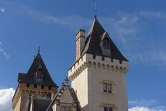 Torre del castillo de Pau, en los Pirineos, Francia fotos de archivo