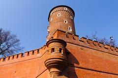 Torre del castillo de Wawel, Kraków Imágenes de archivo libres de regalías