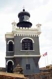 Torre del castillo del EL Morro en San Juan viejo Foto de archivo libre de regalías