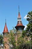 Torre del castillo en Barcelona Foto de archivo libre de regalías