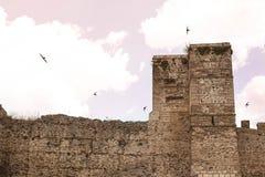 Torre del castillo en Buitrago de Lozoya Madrid España fotos de archivo