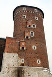 Torre del castillo real de Wawel Imágenes de archivo libres de regalías
