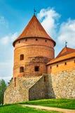 Torre del castillo. Trakai, Lituania Foto de archivo libre de regalías