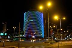 Torre del centro comercial de Negev en la noche Imagenes de archivo