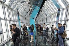 Torre del centro financiero de mundo de Shangai Imágenes de archivo libres de regalías