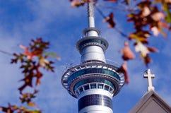 Torre del cielo de Auckland Imagen de archivo libre de regalías