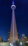Torre del CN di Toronto alla notte Fotografie Stock