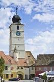 Torre del consejo en Sibiu Fotografía de archivo libre de regalías