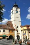 Torre del consejo en Sibiu, Rumania Fotografía de archivo libre de regalías
