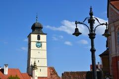 Torre del Consiglio (sfatului) del turnul, Sibiu Immagini Stock Libere da Diritti