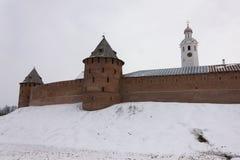 Torre del Cremlino di Novgorod, monumenti storici di Novgorod e dintorni, Russia Immagine Stock