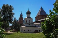 Torre del Cremlino di Novgorod, monumenti storici di Novgorod e dintorni, Russia Immagine Stock Libera da Diritti
