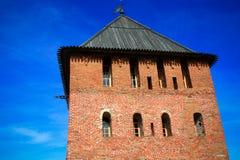 Torre del Cremlino di Novgorod, monumenti storici di Novgorod e dintorni, Russia Fotografie Stock Libere da Diritti