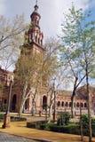 Torre del cuadrado de España, Sevilla Foto de archivo