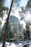 Torre del diablo en la nieve Imagen de archivo libre de regalías
