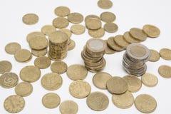 Torre del dinero - concepto de la batería imagen de archivo