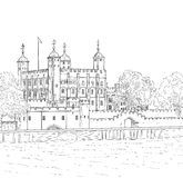 Torre del disegno di Londra Immagini Stock