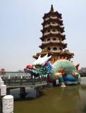 Torre del dragón en Taiwán Imagen de archivo