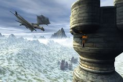 Torre del dragón Foto de archivo libre de regalías