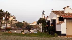 Torre del Duque strand-Marbella-Andalusia-Spanje-Europa Stock Fotografie