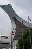 Torre del estadio Olímpico en Montreal Imagen de archivo libre de regalías