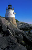 Torre del faro della collina del castello a Newport, Rhode Island Immagine Stock