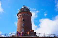 Torre del faro di Kolobrzeg Fotografie Stock Libere da Diritti