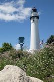 Torre del faro, Racine, WI Imagenes de archivo