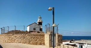 Torre del faro a San Giovanni d'Acri Immagini Stock Libere da Diritti